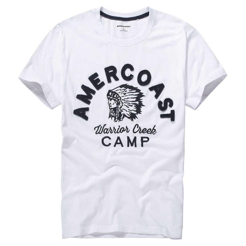 100% baumwolle druck T-Shirt Männer Amerikanischen Küste Neue-Mode street fashion Famous-Marke Sommer-Stil big apple grafik t shirts