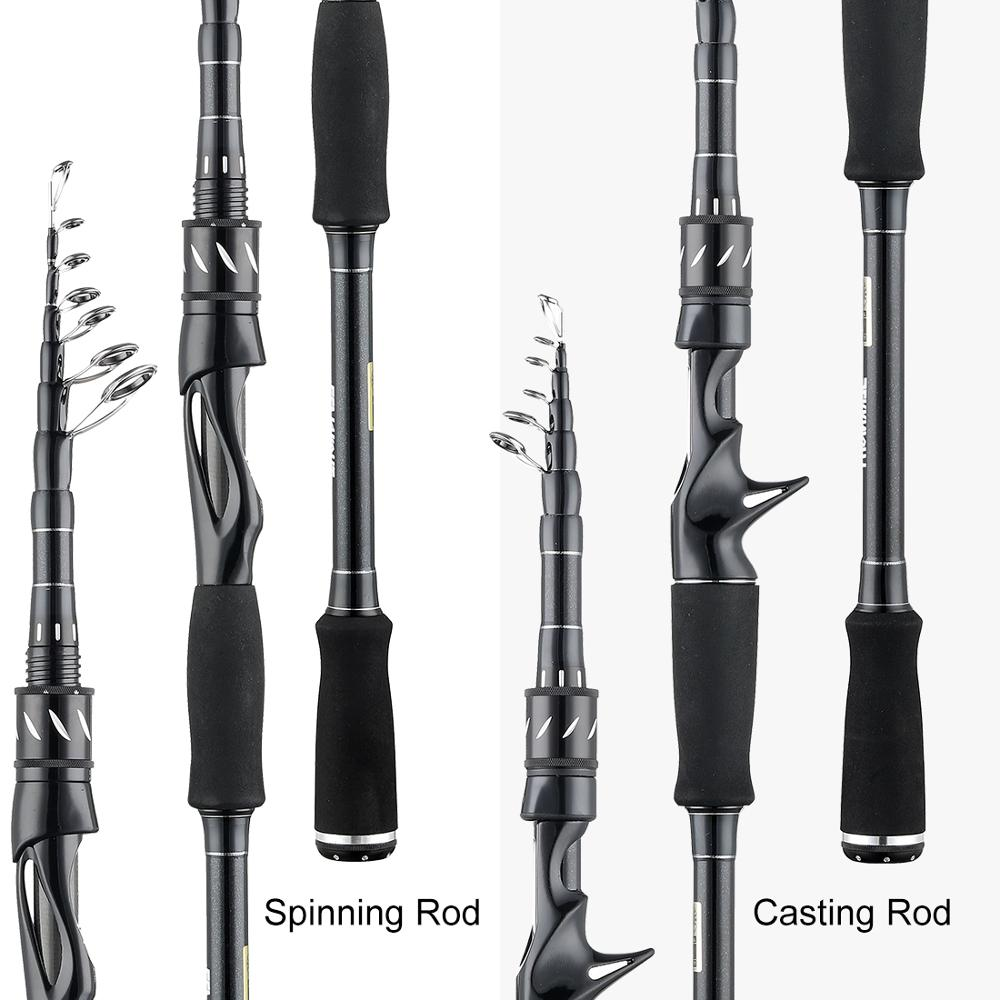 SeaKnight Telescopic Fishing Rod Made with Carbon Fiber Material and Ceramic Guide Ring 2