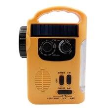 Solar Radio AM / FM 1000MAh Hand Crank Emergency With13 LED Flashlight and Alarm