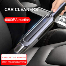 Rechargeable dust collector 6000 PA Sunction 4000mAh Cordless Handheld Vacuum Cleaner Dry/Wet Portable dust cleaner for Home Car