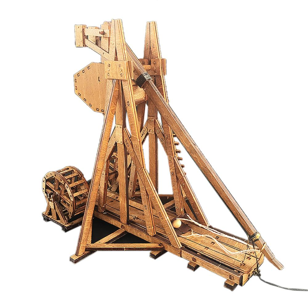 The Age Of Empires Trebuchet Model Kits Ancient Chariot Model Wooden  Counterweight Catapult Model Diy Toys For Children