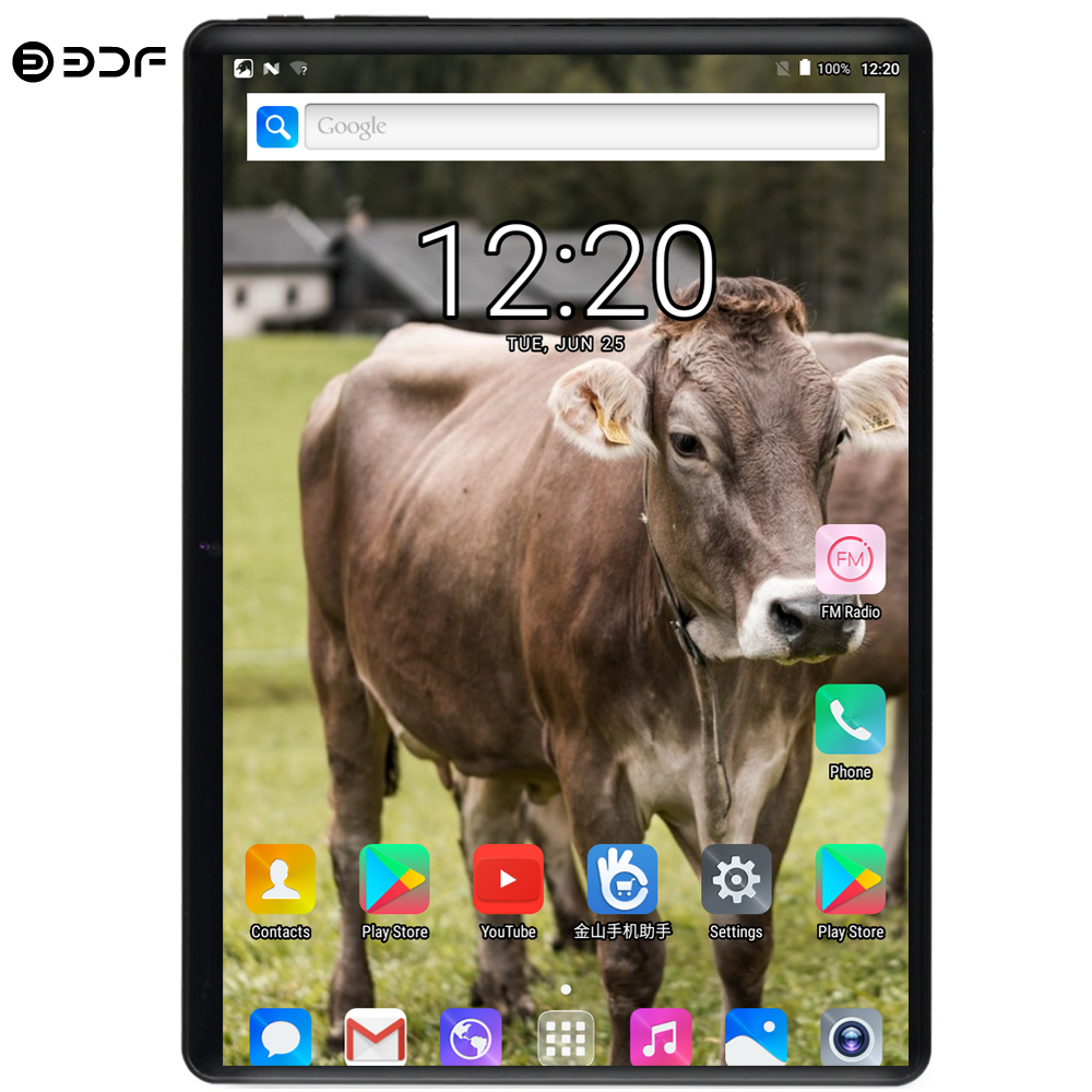 BDF 2020 Newest 10 Inch Tablet Pc Android 9.0 Ten Core 8GB RAM 128GB ROM 3G 4G FDD LTE Wifi Bluetooth Phone Call Pc Tablet 10.1