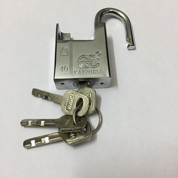 40mm Half A Pack Of Beam White Steel Padlock Chain Anti-Theft Lock Leffe Jingang Leaf Door And Window Anti-Theft Straight Padloc