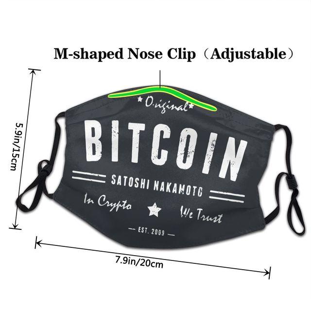 Bitcoin Original Satoshi Crypto Non-Disposable Face Mask 3