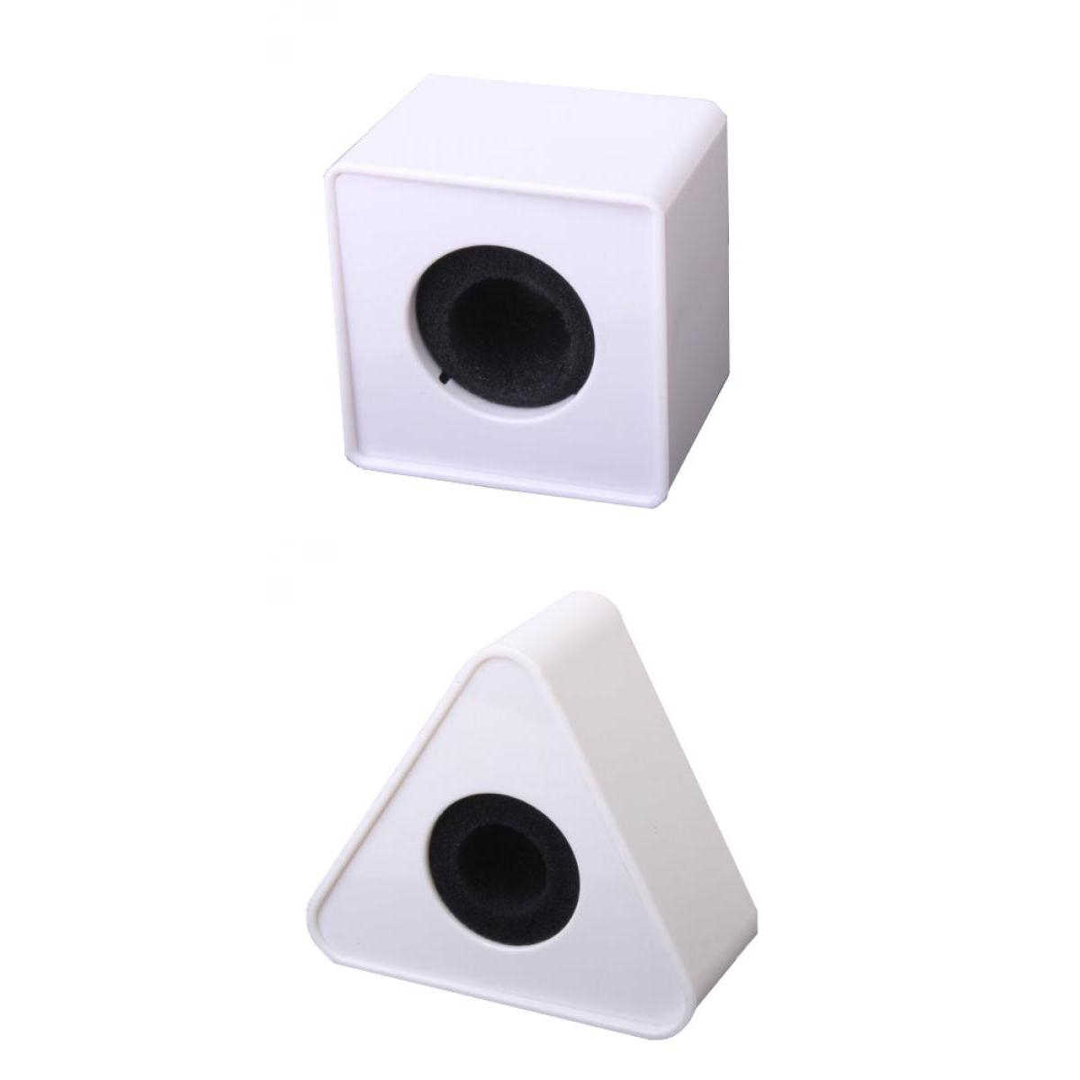 2Pcs 39mm Hole TV Microphone Interview Triangular+ Square  Flag Station