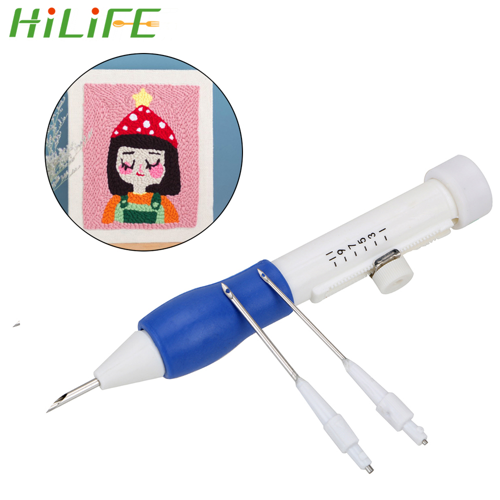 HILIFE Ribbon Flowers Embroidery Set Pratical ABS Plastic DIY Tools Arts Crafts Sewing Decor Pen