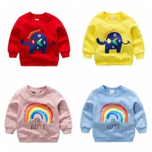 Baby's Autumn Clothes Newborn Long Sleeve Tops Cotton Kids S