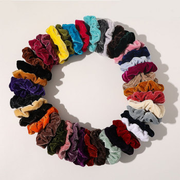 Korea New Candy Color Girls Hair Scrunchie Velvet Hair Rope Soft Hair Tie Ponytail Holder Hair Accessories Elastic Hair Bands image