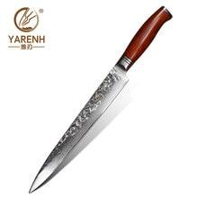 YARENH 10 Zoll Damast Hackmesser   73 Schicht Japanische Damaskus Stahl Küchen Messer   Profi Lachs Sushi Sashimi Kochmesser   Mit Dalbergia Holzgriff