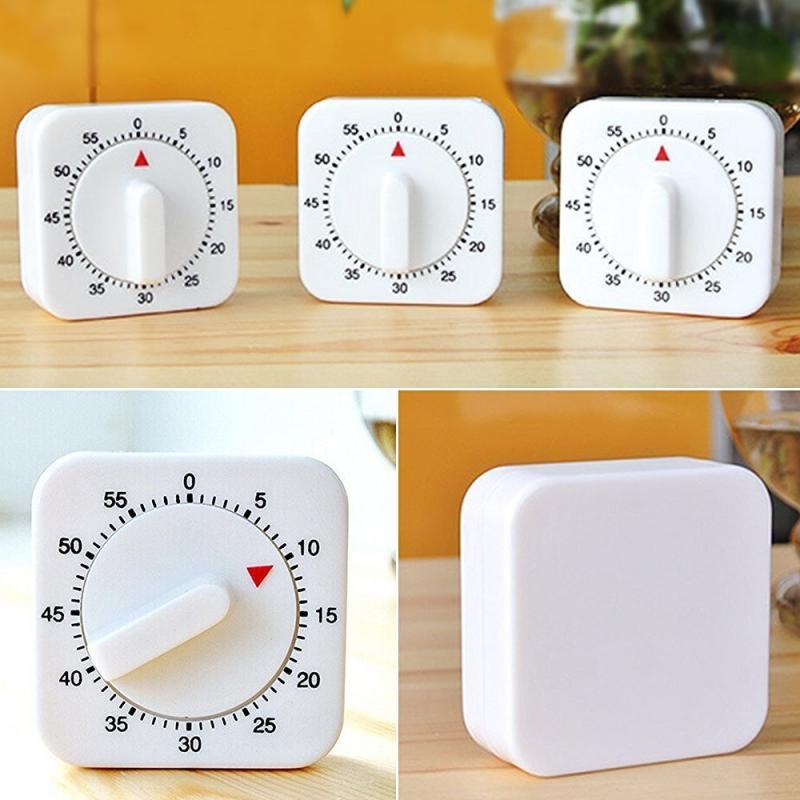 Кухонный Портативный Таймер для приготовления пищи, 60 минут, бытовой инструмент для выпечки, будильник, напоминание, кухонный инструмент, б...