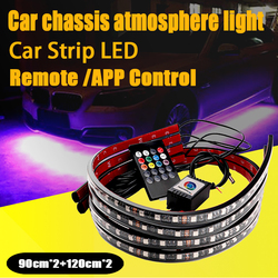 rgb car led strip light atmosphere lamp APP Remote Control Bulbs waterproof Chassis Flexible Underbody Neon Lights accessories