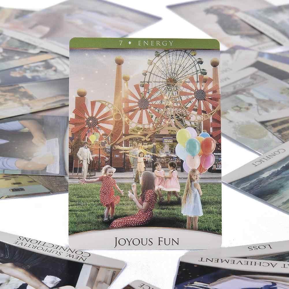 53 Stks/set De Quantum Oracle Tarot Kaarten Volledige Engels Oracle Dek Kaarten Familie Party Bordspellen Speelkaart Pdf Cartas tarot