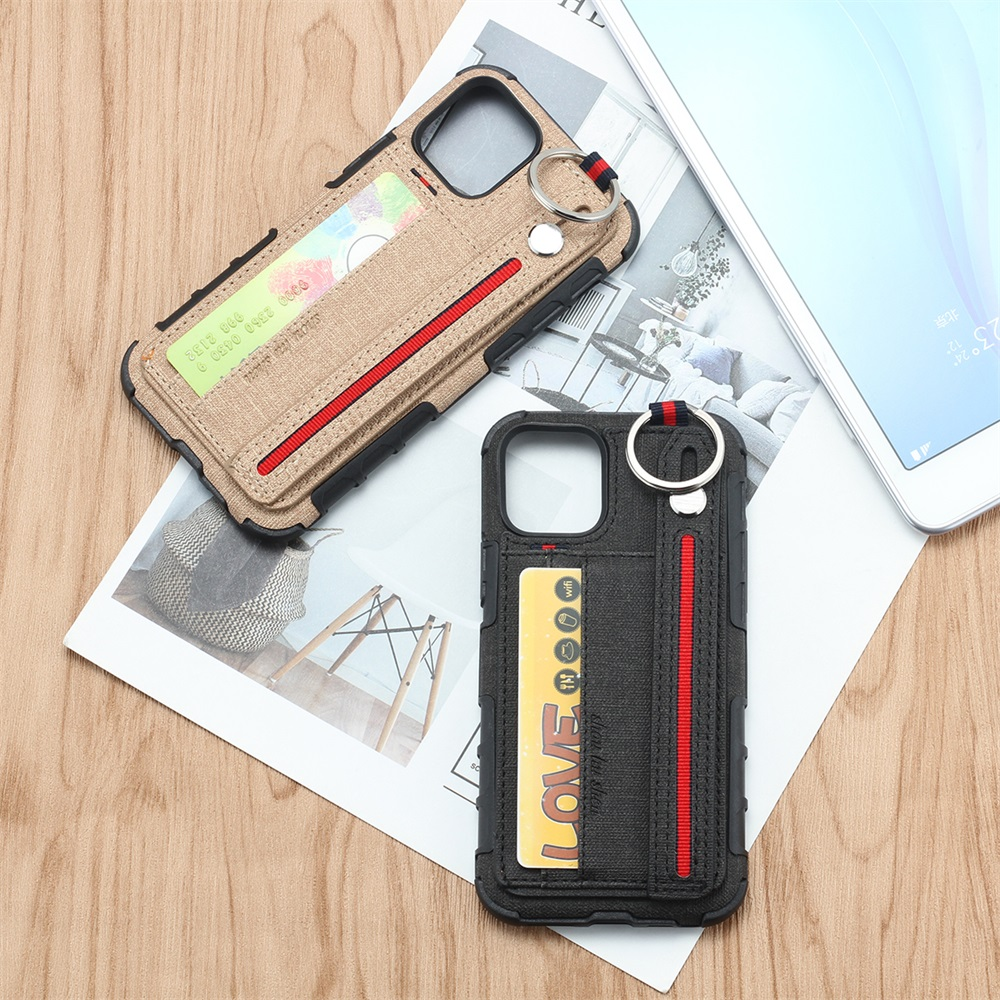 Fabric Cloth Card Holder Case for iPhone 11/11 Pro/11 Pro Max 1