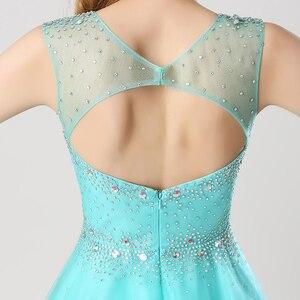 Image 5 - Vestido corto de graduación con lentejuelas brillantes para chica a la moda vestido de fiesta con espalda abierta y cuello transparente AJ032