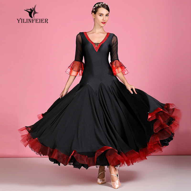New Ballroom Dance Competition Dress Dance Ballroom Waltz Dresses Standard Dance Dress Women Ballroom Dress  S7039
