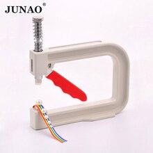 JUNAO 4 5 6 8 10 12mm לבן פנינת חרוזים פרל הגדרת מכונת יד עיתונות חרוזים כלים ריינסטון מסמרה מכונה DIY בגדי מלאכות