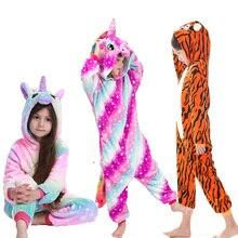 Unicorn Onesie Pyjamas Nightwear Kigurumi-Anime Kids Cute Rainbow Girls for 4-12years/homewear
