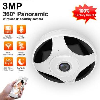 цена на 3MP Wifi IP 360 Panoramic Camera FishEye HD 1080P Wireless Mini P2P IR Night Vision Home CCTV Security Surveillance