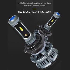 Image 2 - 2Pcs H4 H7 H11 H8 H10 H1 H3 9005 HB3 9006 HB4 5202 H27 880 881 9012 Auto LED scheinwerfer Lampen Hallo Lo Strahl Auto Scheinwerfer Nebel Lichter