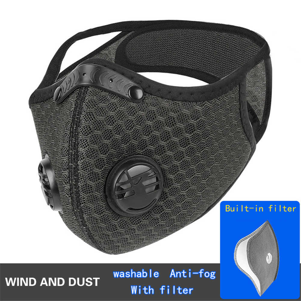 KN95 Tablets Of Activated Carbon Filter Washable Mask Anti-pollution Sports Training Mask PM2.5 Running Masks New Random Color