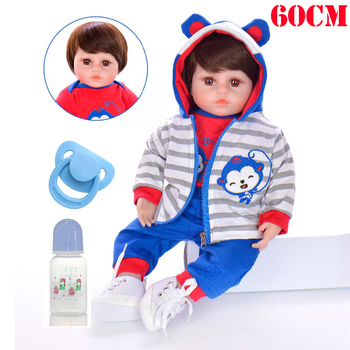 Boy reborn babies dolls 58cm silicone vinyl reborn baby dolls for children girls toys gift bebe doll bonecas brinquedo menino
