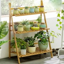 4/3/2 Layer 100cm Wood Flower Stand Decoration Plant Flower Pot Stand Wedding Balcony Garden Table Living Room Flower Shelf(China)