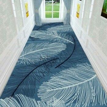 3D Перьевые скандинавские лестничные ковры, европейские коврики для прихожей, отелей, длинных бегунов, ковер для дома, вход/коридор/прохода, ...