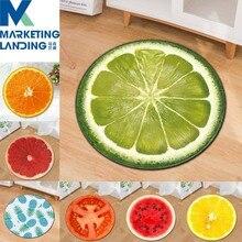 Освежающий летний круглый ковер фруктовый 3D мягкий коврик для йоги нескользящие коврики Kiwi арбуз напольный коврик для детской комнаты домашний декор