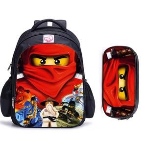 Рюкзак хорошего качества с супергероем Бэтменом и ниндзя для детей, школьные сумки, рюкзак с мультяшной книгой, повседневный детский школьн...