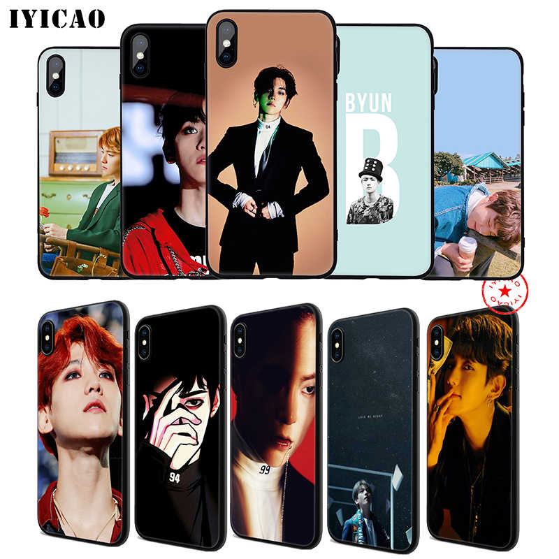 IYICAO Exo Baekhyun Bands Soft Phone Case for iPhone 11 Pro XR X XS Max 6 6S 7 8 Plus 5 5S SE Silicone TPU 7 Plus