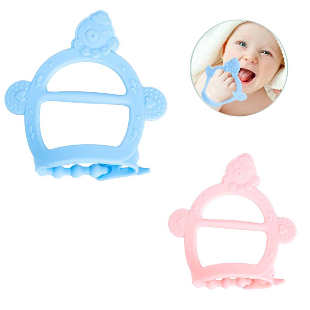 Silicone Teethers 1PC Baby Teething Glove Toy Cartoon Durable Child Sucking Fingers Thumb Teether Nursing Tiny Rod