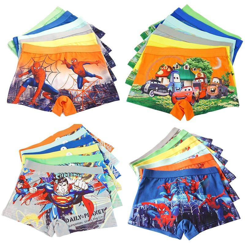 4pcs/lot Cars Baby Boys Underwear Kid Panty Cartoon Underpants Quality Automobile General Mobilization Pants Catamite Panties