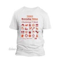 Tesco valor diário natal camiseta cada pequena ajuda presente de natal