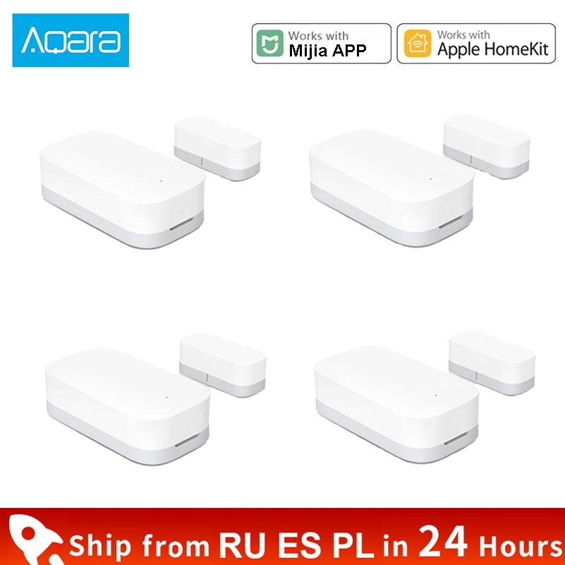 Xiaomi aqara porta janela sensor de casa inteligente função zigbee mini sensor controle remoto alarme segurança para mijia app apple homekit