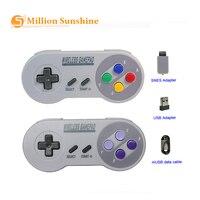Controle remoto snes super nintendo clássico  mini console de jogos  sem fio  2.4ghz  adequado para snes rpi125