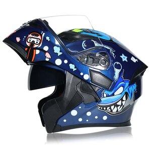 Image 2 - DOT ECE JIEKAI casques de moto, Flip up, pour course de sécurité, pour Motocross, Quad Dirt, 902, nouveau, casque de vélo