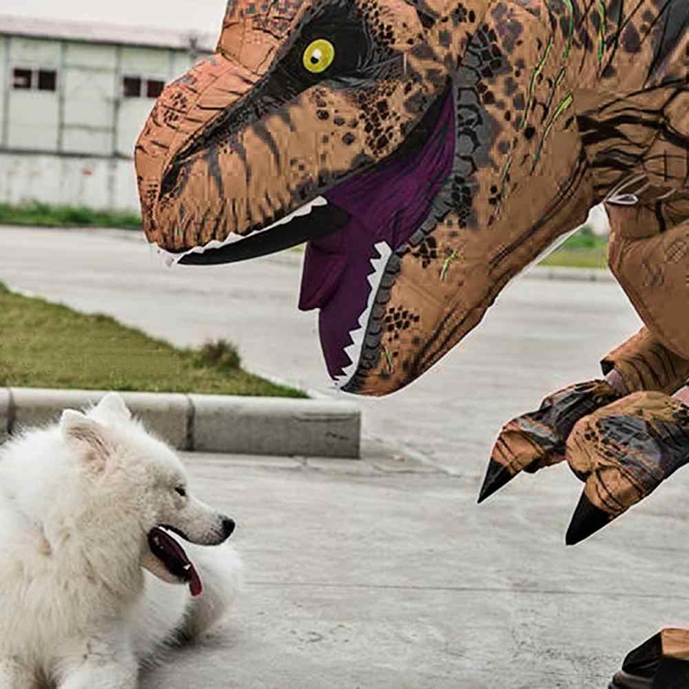 Molezu di Halloween Gonfiabile T-Rex Dinosauro Costume di Halloween Blow Up Deluxe Dinosaur Fancy Dress Costume di Scena