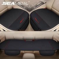 SEAMETAL-funda Interior de lino para asiento de coche, conjunto de fundas de asiento de coche, Protector para silla, productos de cojín para las cuatro estaciones, accesorios