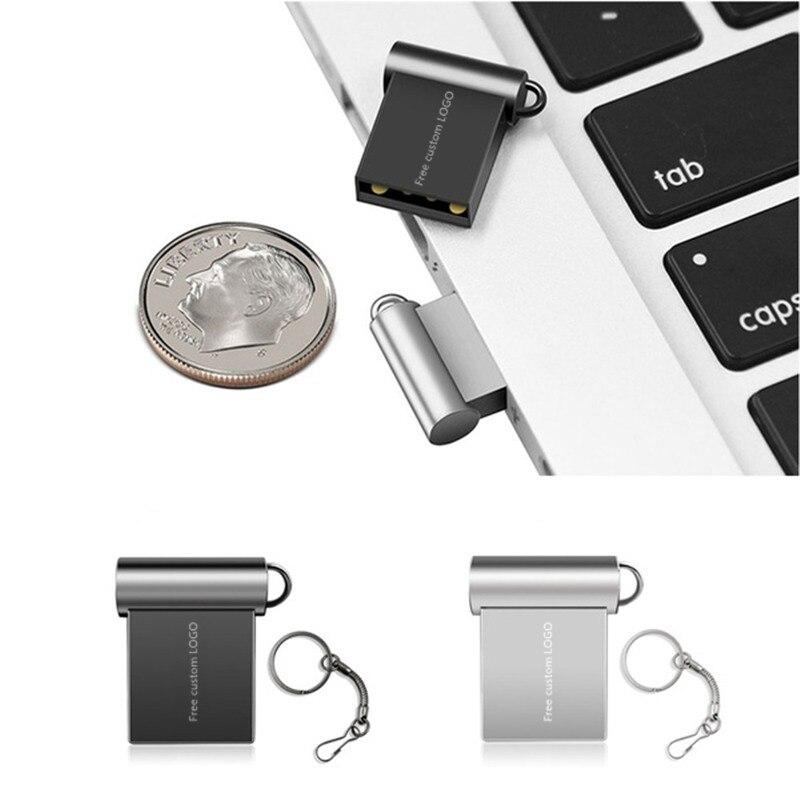 super mini usb flash drive 32gb 4gb2.0  metal usb stick 16gb 64gb 128gb pendrive 8gb flash memory stick cle usb Free custom LOGO (5)
