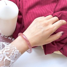 New simple fashion crystal bracelet with natural strawberry wafer Bracelet women