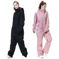 Новый лыжный костюм для женщин зима-30 температурная горная лыжная куртка сноуборд брюки для женщин водонепроницаемый Зимний теплый зимний ...