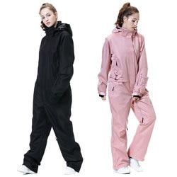 Nuevo traje de esquí para mujer, chaqueta de esquí de montaña para invierno-30, pantalones de Snowboard para mujer, mono impermeable de invierno cálido para nieve, marcas