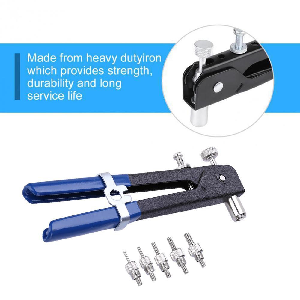 86pcs Hand Riveter Nut Rivet Gun Kit M3-M8 Manual Threaded Nut Rive Tool With Rivnut Nutsert Riveting Kit Household Repair Tools