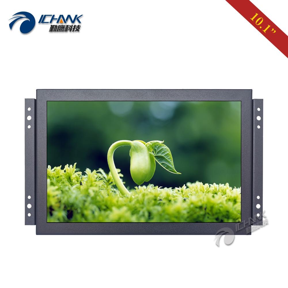 K101TN ABHUV/10.1 inch 16:10 Open Frame Power On Boot Display/10.1 Metal Shell 1280x800 HDMI VGA Industrial LCD Screen Monitor