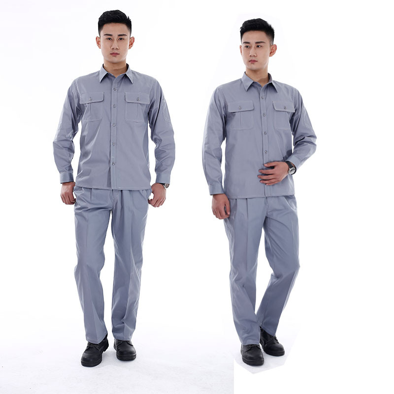 Cotton Thin Long-sleeved Overall Suit Engineering Decoration Auto Repair Electric Welding Suzhou Work Wear