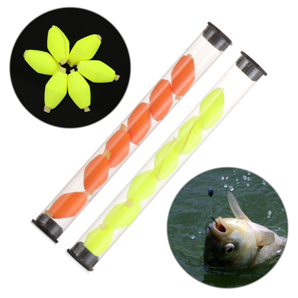 Oval  Fishing Floats Beads Indicator Fish Beans Fly Fishing Bobbers Float