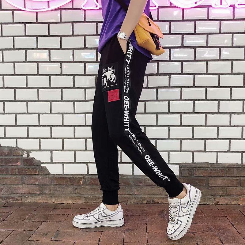 2019 Casual Pants Men's Summer Sports Capri Korean-style Trend Leggings Thin Black Style Harem MEN'S Pants