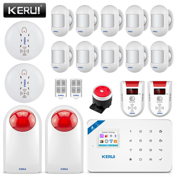 KERUI W18 Wireless APP Control LCD GSM SMS Burglar Alarm System For Home Security 1
