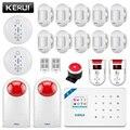 KERUI W18 sans fil APP contrôle LCD GSM SMS système d'alarme antivol pour la sécurité à la maison