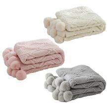 цена на Ball Blanket Chenille Knitting Ball Carpet Decorative Blanket Conditioning Sofa Blankets Chenille Plush Throw Knitted Blankets